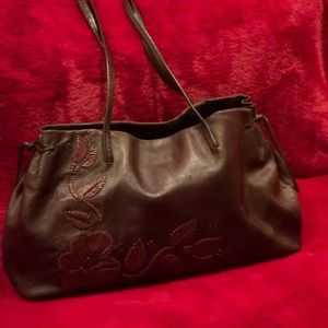 Franceso Biasia Brown Leather Shoulder Bag/Tote